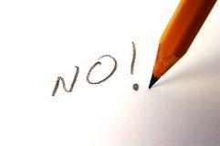Diga o No. Imagem de Stock