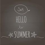 Diga olá! ao verão Imagens de Stock