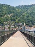 Diga Piero Foranea Caldirola pier in Como town Stock Image