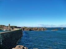 Diga Scozia di Dunbar Fotografie Stock
