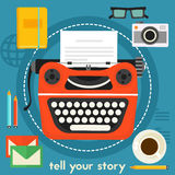Diga seu conceito da história Imagem de Stock Royalty Free