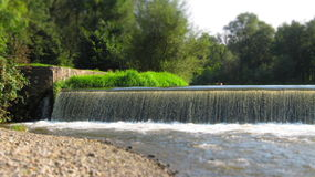 Diga sul fiume Fotografie Stock