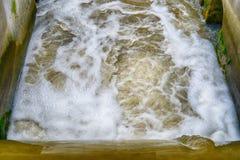 Diga sul fiume Fotografia Stock