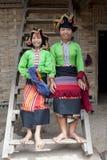 Diga tailandese della donna asiatica, Laos Fotografia Stock