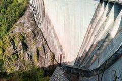 Diga in Val Verzasca (Tessin - Svizzera) Fotografia Stock Libera da Diritti