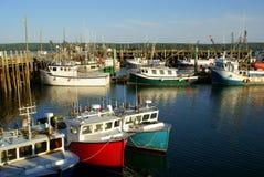 Digby fishing boats. Fishing boast at the Digby, Nova Scotia wharf stock photos