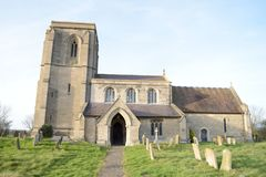 Digby kościół w Wiejskim Anglia obrazy stock