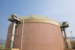 Digestion tank in a sewage treatment plant Stock Photography