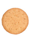 Digestive biscuit cutout. Single digestive biscuit studio cutout Royalty Free Stock Photography