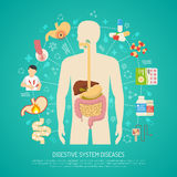 Digestive System Diseases Illustration Stock Images