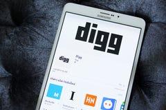 Digg app Royalty-vrije Stock Foto's