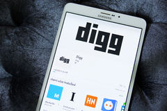 Digg app Royalty Free Stock Photos