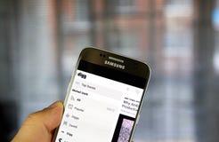 Digg app em Samsung S7 Imagem de Stock Royalty Free