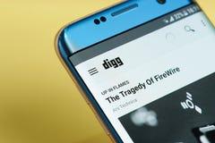 Digg application menu Royalty Free Stock Image
