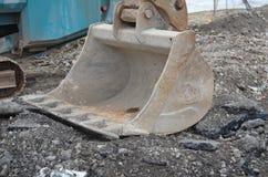 Digger κάδος κατασκευής. Στοκ φωτογραφίες με δικαίωμα ελεύθερης χρήσης