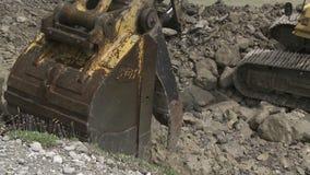 Digger κινούμενοι βράχοι απόθεμα βίντεο