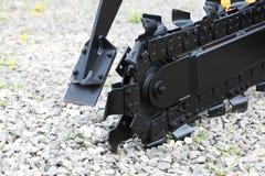 Digger μηχανή τάφρων για trenching Στοκ Εικόνες