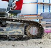 Digger στην άμμο Στοκ Εικόνες