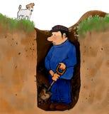 Digger τρυπών Στοκ Εικόνες