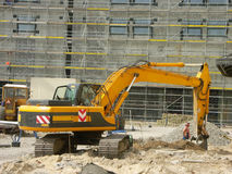 Digger. At the construction site royalty free stock photography