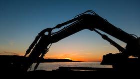 Digger Arm Sunset Stock Photo