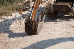 Digger bucket Stock Photo