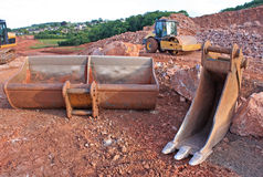 Digger buckets Stock Photos