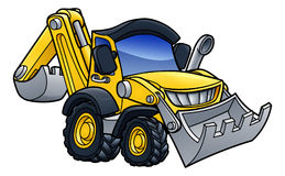 Digger Bulldozer Cartoon stock abbildung