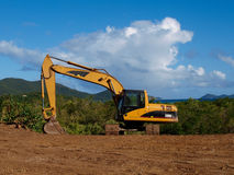 Digger in the Caribbean Royalty Free Stock Photo