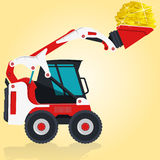 Digger with coins Stock Photos