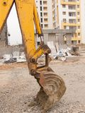 Digger at construction site Stock Photo
