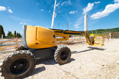 Digger in contruction building site Royalty Free Stock Photo