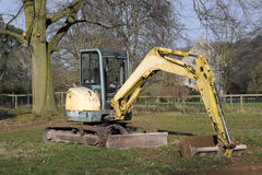 Digger in countryside Stock Image