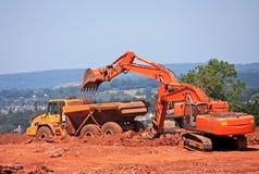 Digger and Dump Truck Stock Photos