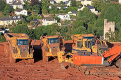 Digger and Dump Trucks Stock Images