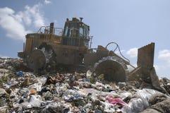 Digger At Dumping Ground royalty free stock image