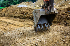 Digger excavator bucket bulldozer Stock Images