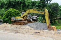 Digger excavator bucket bulldozer Royalty Free Stock Images