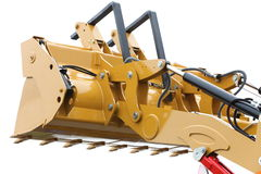 Digger excavator isolated on white background Stock Photography