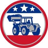 Digger Excavator Retro mecânico americano ilustração do vetor