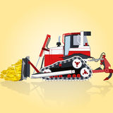 Digger with gold Royalty Free Stock Photo