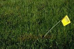 Digger Hotline Flag Buried Natural-Gasleitung Stockbild