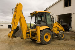 Digger loader working Stock Photos