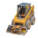Digger. Mini digger isolated on white background stock image