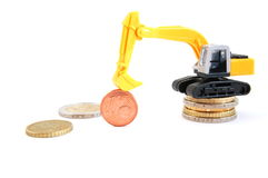 Digger an money Royalty Free Stock Image