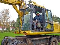Digger operator Royalty Free Stock Photos