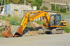 Digger. A photo of a industrial digger Royalty Free Stock Images