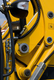 Digger's hydraulic hoses Royalty Free Stock Photography
