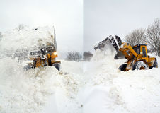 Digger snow Royalty Free Stock Photography