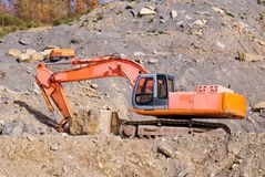 Digger for stone Stock Photography